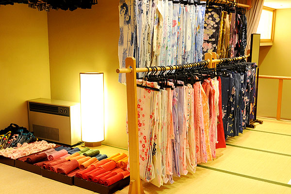 Colorful rental yukata